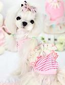 Χαμηλού Κόστους Άλλη υπόθεση-Σκύλος Φανέλα Shirt Ρούχα για σκύλους Ριγέ Βυσσινί Ροζ Βαμβάκι Μεικτό Υλικό Στολές Για Καλοκαίρι
