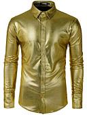 رخيصةأون قمصان رجالي-رجالي قميص بوهو ترتر هندسي ذهبي US40