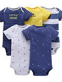povoljno Majice za dječake-5 komada Dijete Dječaci Aktivan Geometrijski oblici Print Kratki rukav Jednodijelno Plava