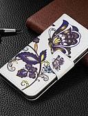 זול מגנים לטלפון-מגן עבור Samsung Galaxy Galaxy M10 (2019) / Galaxy M20(2019) / Galaxy M30(2019) ארנק / מחזיק כרטיסים / עם מעמד כיסוי מלא פרפר קשיח עור PU