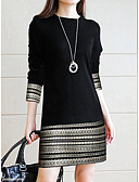 baratos Vestidos Longos-Mulheres Elegante Bainha Vestido - Renda, Geométrica Acima do Joelho