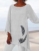 זול טישרט-חיה משוחרר מידות גדולות טישרט - בגדי ריקוד נשים לבן