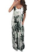 povoljno Maxi haljine-Žene Boho Elegantno Swing kroj Haljina - Print, Color block Maxi
