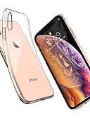 זול מגנים לאייפון-מארז iPhone XS מקס / iPhone x שקוף / Ultra-back מקרה מוצק צבע tpu רך עבור iPhone XS מקס / iPhone XS / iPhone xr