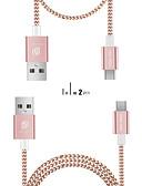זול מטען כבלים ומתאמים-מיקרו USB כבל נורמלי / קלוע טרילן / ניילון / דמוי עור- סקאי מתאם כבל USB עבור סמסונג / Huawei / נוקיה