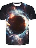 billige T-shirts og undertrøjer til herrer-Herre - 3D Trykt mønster Basale / Gade T-shirt Sort L