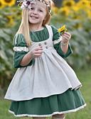 זול שמלות לתינוקות-שמלה חצי שרוול אחיד בסיסי בנות תִינוֹק / פעוטות