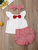 זול אוברולים טריים לתינוקות-שמלה ללא שרוולים פסים בנות תִינוֹק