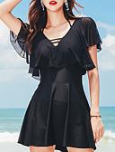 זול חליפות רטובות,חליפות צלילה וחולצות ראש-גארד-SANQI בגדי ריקוד נשים שמלות בגדי ים בגדי ים ייבוש מהיר שרוולים קצרים שחייה אחיד צבעים מרובים קיץ / מיקרו-אלסטי