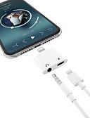 זול כבל & מטענים iPhone-2 ב 1 אוזניות מוזיקה תשלום תאורה 3.5mm אודיו מתאם כבל עבור