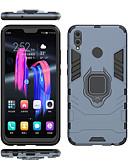 זול מגנים לטלפון-מגן עבור Huawei Huawei Honor 8X / Huawei Honor 8X Max מחזיק טבעת כיסוי מלא אחיד / שִׁריוֹן קשיח PC