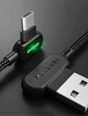 זול מטען כבלים ומתאמים-מיקרו USB כבל 1.0m (3ft) קלוע / תשלום מהיר ניילון מתאם כבל USB עבור סמסונג / LG / נוקיה
