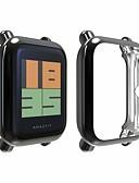 זול מטען כבלים ומתאמים-ubole תואם amazfit bip מסך מגן במקרה tpu מצופה מגן מסך מחוספס כיסוי שריטה הוכחה כל מגן פגוש פגז תואם amazfit bip smartwatch