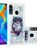 זול מגנים לטלפון-מגן עבור Huawei Huawei P20 / Huawei P20 Pro / Huawei P20 lite עמיד בזעזועים / נוזל זורם / שקוף כיסוי אחורי חיה / זוהר ונוצץ רך TPU / P10 Lite