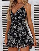 זול שמלות מיני-מיני גב חשוף דפוס, גיאומטרי - שמלה גזרת A סגנון רחוב פאנק & גותיות בגדי ריקוד נשים