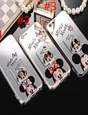 זול מגנים לאייפון-מגן עבור Apple iPhone XS / iPhone XR / iPhone XS Max מחזיק טבעת / מראה / תבנית כיסוי אחורי אנימציה רך TPU