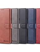 זול מגנים לטלפון-מגן עבור Samsung Galaxy Note 9 / Note 8 ארנק / מחזיק כרטיסים / עמיד בזעזועים כיסוי מלא אחיד קשיח עור PU