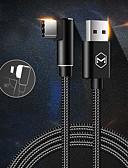 זול מטען כבלים ומתאמים-סוג C כבל 1.0m (3ft) קלוע / תשלום מהיר ניילון מתאם כבל USB עבור Huawei