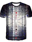 povoljno Muške majice i potkošulje-Majica s rukavima Muškarci - Osnovni Dnevno 3D Duga XL