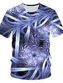 hesapli En Çok Satanlar-Erkek Tişört Desen, Zıt Renkli / 3D Sokak Şıklığı / Abartılı Açık Mavi XXL