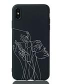 זול מגנים לאייפון-מגן עבור Apple iPhone XS / iPhone XR / iPhone XS Max עמיד בזעזועים / תבנית כיסוי אחורי אנימציה רך TPU