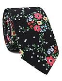 זול עניבות ועניבות פרפר לגברים-עניבת צווארון - פרחוני / דפוס מסיבה / פעיל בגדי ריקוד גברים