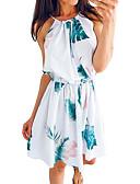 זול שמלות מיני-מעל הברך דפוס, פרחוני גיאומטרי - שמלה שיפון בסיסי בוהו בגדי ריקוד נשים