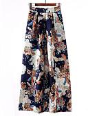 hesapli Maksi Elbiseler-Kadın's Sokak Şıklığı sofistike Maksi A Şekilli / Salıncak Etekler - Geometrik Desen Havuz Siyah YAKUT XL XXL XXXL