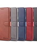 זול מארז Samsung-מגן עבור Samsung Galaxy A6 (2018) / A6+ (2018) / Galaxy A7(2018) ארנק / מחזיק כרטיסים / עמיד בזעזועים כיסוי מלא אחיד קשיח עור PU