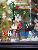 זול מגנים לאייפון-חג המולד פתית שלג חלון הסרט - -& מדבקות קישוט חג המולד / חג פרחוני / pvc גיאומטרי (פוליוויניל כלוריד) מדבקה חלון