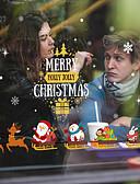 זול מגנים לאייפון-חלון חג המולד הסרט - -& מדבקות קישוט חג המולד / חג פרחוני / pvc גיאומטרי (פוליוויניל כלוריד) מדבקה חלון