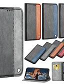 זול מגנים לטלפון-מגן עבור Samsung Galaxy A5(2018) / A6 (2018) / A6+ (2018) ארנק / מחזיק כרטיסים / עם מעמד כיסוי מלא אחיד קשיח עור PU