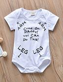 זול אוברולים טריים לתינוקות לבנים-חליפת גוף שרוול קצר דפוס בנים תִינוֹק