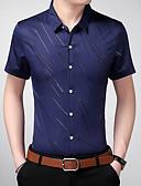 abordables Camisas de Hombre-Hombre Camisa A Rayas Azul Marino XXXXL
