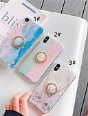 זול מגנים לאייפון-מגן עבור Apple iPhone XS / iPhone XR / iPhone XS Max מחזיק טבעת / תבנית / זוהר ונוצץ כיסוי אחורי תבנית גאומטרית רך TPU