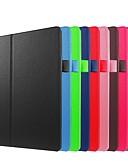 זול מגנים לטלפון-מגן עבור Lenovo Lenovo Tab 2 A10-30F / L (TB2-X30) עמיד בזעזועים / עם מעמד / אולטרה דק כיסוי מלא אחיד קשיח עור PU