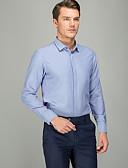 זול חולצות-אחיד עסקים חולצה - בגדי ריקוד גברים כחול בהיר