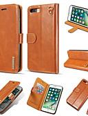 זול מגנים לאייפון-מגן עבור Apple iPhone XS Max / iPhone 8 Plus / iPhone 8 מחזיק כרטיסים / עמיד בזעזועים כיסוי מלא אחיד קשיח עור PU