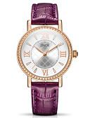 זול שעונים-בגדי ריקוד נשים שעון מכני קווארץ עמיד במים אנלוגי יום יומי - לבן סגול אדום