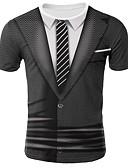 povoljno Muške majice i potkošulje-Majica s rukavima Muškarci Ležerno / za svaki dan 3D Okrugli izrez Print Crn / Kratkih rukava