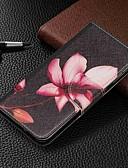 זול מגנים לטלפון-מגן עבור Samsung Galaxy Galaxy A7(2018) / Galaxy A10 (2019) / Galaxy A30 (2019) ארנק / מחזיק כרטיסים / עם מעמד כיסוי מלא פרח קשיח עור PU