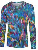 זול טישרטים לגופיות לגברים-קולור בלוק צווארון עגול בסיסי מידות גדולות טישרט - בגדי ריקוד גברים פול / שרוול ארוך
