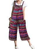 povoljno Print Dresses-Žene Plava Djetelina Red Odjeća za igru, Geometrijski oblici XXXL XXXXL XXXXXL