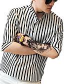povoljno Muške polo majice-Majica Muškarci - Ulični šik / Elegantno Izlasci / Ležerno / za svaki dan Prugasti uzorak Print Obala XL