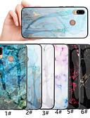 זול מגנים לטלפון-מגן עבור Huawei Huawei Honor 10 / כבוד 10 לייט / Honor 9 תבנית כיסוי אחורי שיש קשיח זכוכית משוריינת