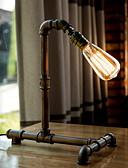 זול להקות Smartwatch-רטרו תעשייתי רוח שולחן אור ברזל צינור שולחן מנורת חדר לימוד / משרד / מתכת מקורה 220v