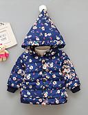 זול שמלות לתינוקות-מרופד בכותנה ונוצות דפוס דפוס בוהו בנות תִינוֹק / פעוטות