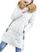 זול סרבלים ואוברולים לנשים-L / XL / XXL לבן / אודם / חום בהיר פוליאסטר, מעיל פרקה רגיל אחיד בגדי ריקוד נשים