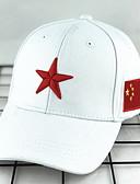 olcso Férfi kalapok, sapkák-Férfi Egyszínű Poliészter,Alap-Baseball sapka Fehér Fekete
