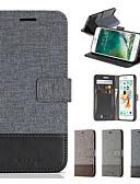 זול מגנים לאייפון-מגן עבור Apple iPhone XS / iPhone XR / iPhone XS Max מחזיק כרטיסים / עמיד בזעזועים כיסוי מלא אחיד רך עור PU / בַּד
